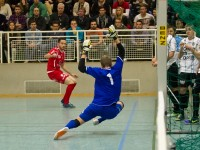 Hallenmasters Wolfurt, Hallenfussball, Halbfinalgruppe 2, SCR Altach Amateure (weiss) - FC Dornbirn