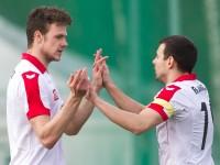 Fussball, Regionalliga West, Nachtragsspiel, FC Dornbirn - FC Hard, Tor zum 1:0, Deniz Mujic