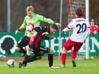 Fussball, Regionalliga West, Nachtragsspiel, FC Dornbirn - FC Hard, Kevin Defranceschi, Christoph Fleisch