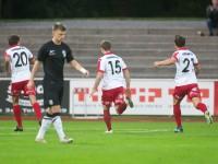 fussball, regionalliga west, derby, fc dornbirn - sw bregenz, tor und jubel zum 1:0