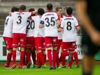 fussball, regionalliga west, derby, fc dornbirn - sw bregenz, jubel nach 1:0