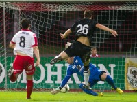 fussball, regionalliga west, derby, fc dornbirn - sw bregenz, tor zum 1:1 durch deniz mujic