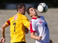 Fussball, Regionalliga West, 1. Spieltag, Derby, FC Dornbirn - SCR Altach Amateure, Jan Gmeiner, Mathias Bachstein