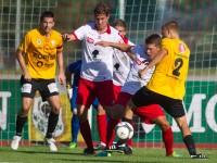 Fussball, Regionalliga West, 1. Spieltag, Derby, FC Dornbirn - SCR Altach Amateure, julian erhart, christoph domig, patrick pircher