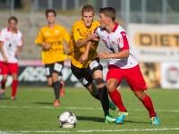Fussball, Regionalliga West, 1. Spieltag, Derby, FC Dornbirn - SCR Altach Amateure, Christoph Domig