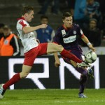 Sport Fussball  ÖFB-Cup, 2. Runde FC Dornbirn gegen FK Austria Wien Sch?fer Patrick gegen MARKO STANKOVIC