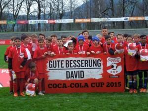 Mit den besten Wünschen an David Alaba reisen unsere Jungs nach Wien!